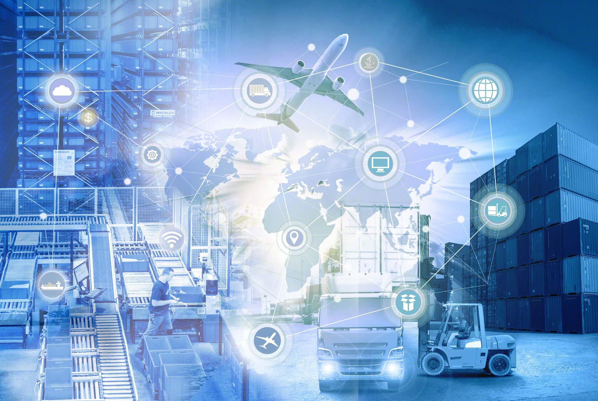 Die Supply Chain 4.0 bezieht sich auf die Einbindung neuer Technologien in die Lieferkette.
