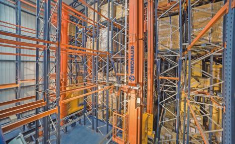 Das Hochregallager in Silobauweise von Gioseppo bietet Platz für 5844 Paletten
