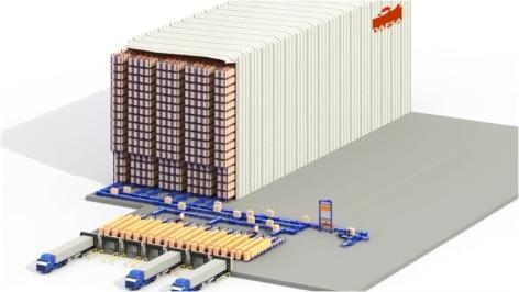Mecalux baut ein automatisiertes Lagerhaus für die Zukunft