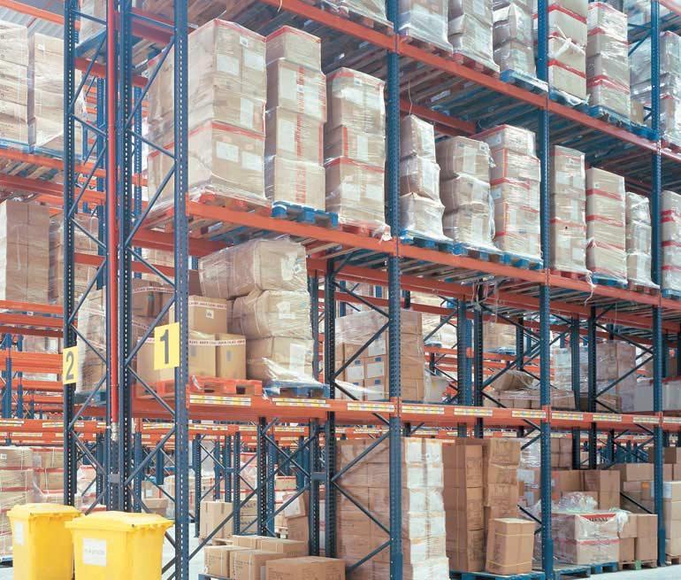 Distributionslager für Lebensmittelprodukte.