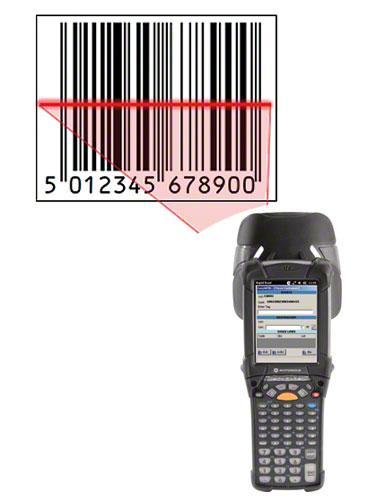Ein Scanner liest den Barcode und informiert das LVS