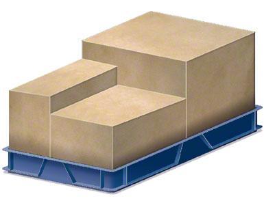 Ein Behälter, in dem sich die vom Lieferanten geschickten Verpackungskisten befinden.