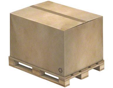 Die Gruppierung von Produkten in größere Ladeeinheiten wird auf einer Palette durchgeführt.