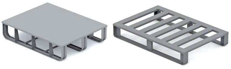 Metallpaletten werden hauptsächlich in der Automobil- und metallurgischen Industrie genutzt.