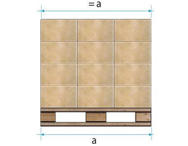 Korrekt geformte Palette
