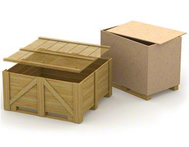 Die unteren Schienen der Holzbehälter können schwach oder wenig widerstandsfähig sein.