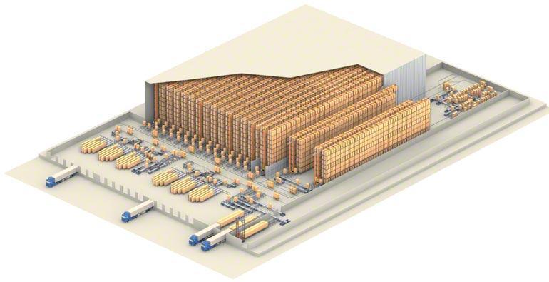 Beispiel eines Zentrallagers