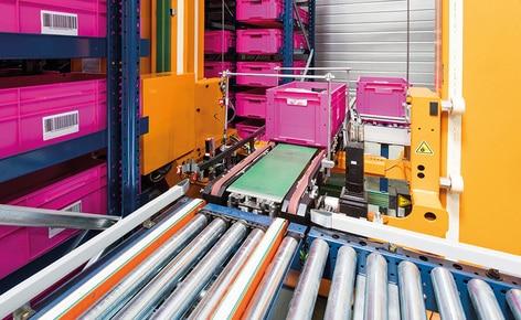 Firma SCD Luisina für die Automatisierung entschieden, die das Miniload-Lager für Behälter von Mecalux bietet