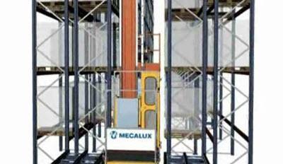 Regalbediengeräte: Entnahme der Palette in Lagersystemen mit zweifacher Tiefe