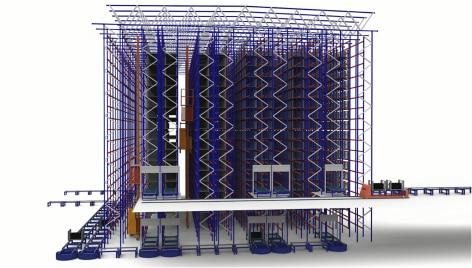 Innovation und Technologie zu Diensten der Logistik von Michelin, in seinem automatischen Lager in Vitoria, Spanien