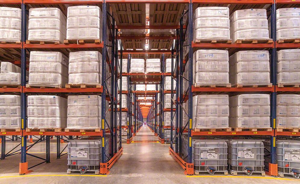 Konventionelle Palettenregale für Agrochemikalien von Bravo