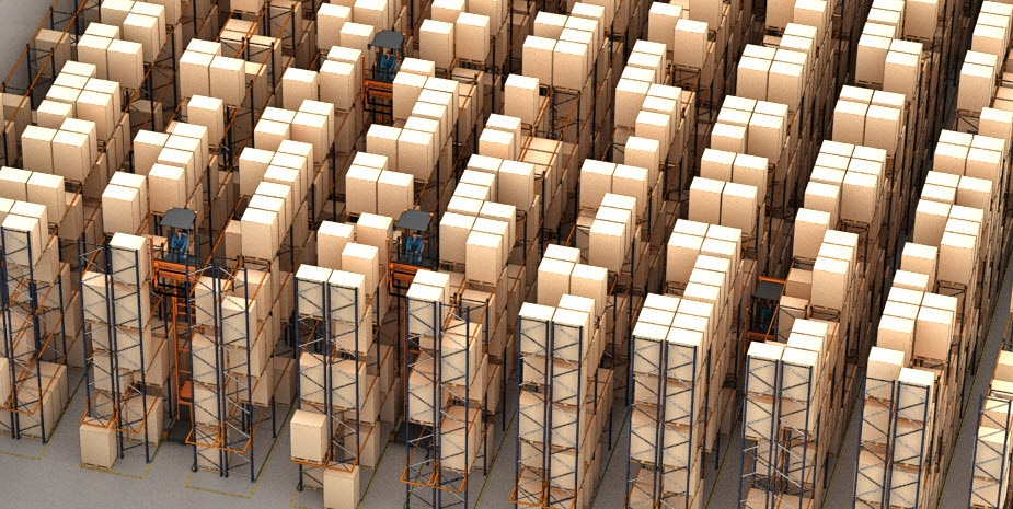 Palettenlager des Logistikunternehmens Barsan in Belgien