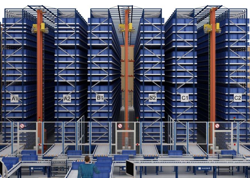 Das automatisierte Behälterlager von Cárnicas Medina in Buñol (Valencia)