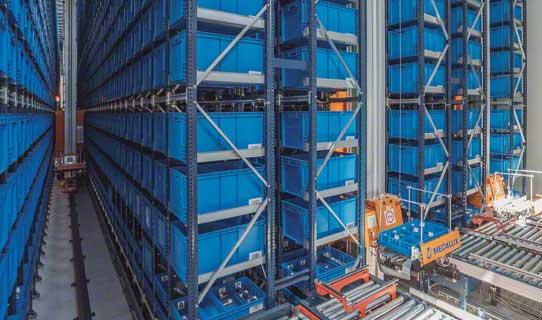 Regalbediengeräte für Behälter