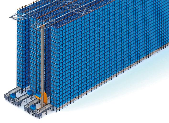 Automatisiertes Behälterlager und Palettenregale von Fic
