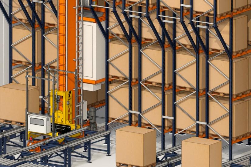 Industrias Yuk errichtet ein automatisiertes Lager für Paletten und Behälter