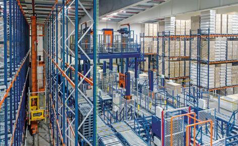 Automatisierung im Lager für Produkte Deliplus von Mercadona