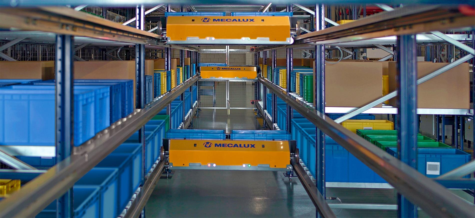 Shuttle-Lagersystem für Behälter