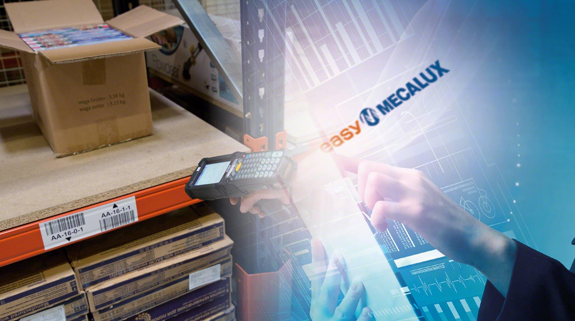 Los terminales de radiofrecuencia intercambian información con el SGA del almacén