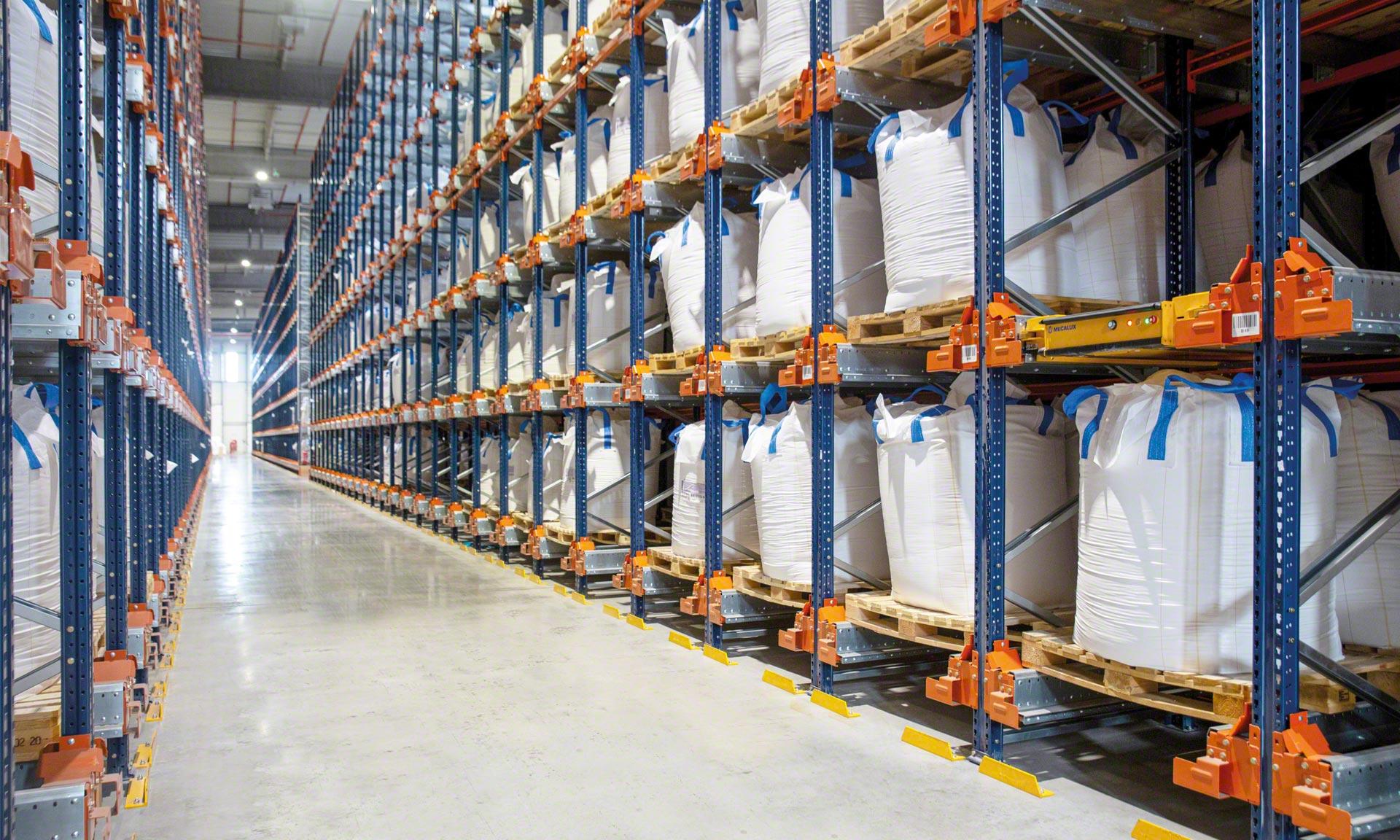 Groupe Bert: Gleiche Lagerkapazität auf 73% weniger Fläche