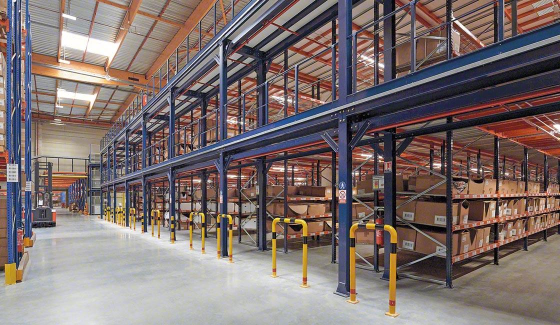 La instalación de estanterías sismoresistentes en el almacén del Grupo Rossignol es uno de los ejemplos de uso de gemelos digitales en el diseño de almacenes