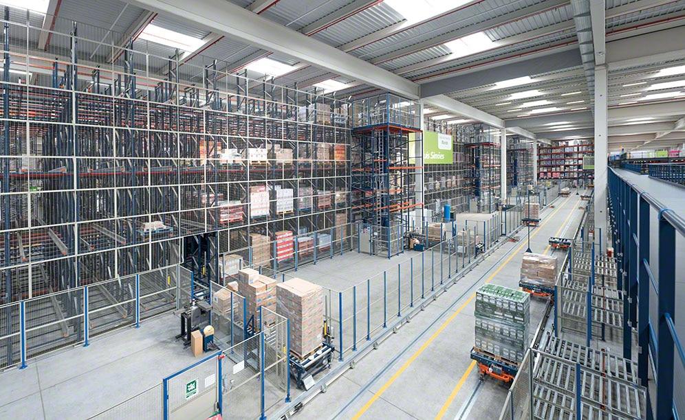 Lagerkapazität, Sequenzierung und hohe Verfügbarkeit im Logistikzentrum von Luís Simões